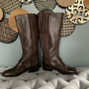 Nine West Blogger Riding Boots Expresso Brown 10
